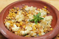 Balti sweetcorn and cauliflower curry Royalty Free Stock Image