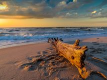 baltic над заходом солнца моря Стоковое Фото