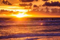 baltic над заходом солнца моря Стоковые Изображения RF