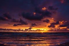 baltic над заходом солнца моря Стоковые Фото