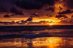 baltic над заходом солнца моря Стоковое фото RF