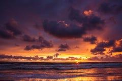 baltic над заходом солнца моря Стоковая Фотография
