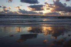 baltic над заходом солнца моря Стоковое Изображение