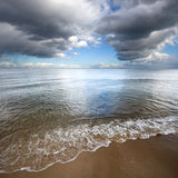 Baltic. Cloud over Baltic Sea, Poland Stock Images