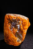 Baltic amber. Isolated on black bakground Stock Photography