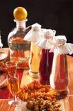 Baltic amber liqueur Stock Photo