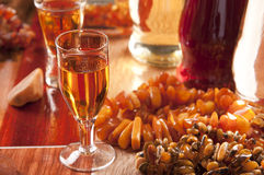 Baltic amber liqueur Stock Image