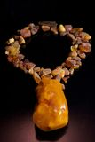 Baltic Amber necklace Royalty Free Stock Image