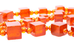 Baltic amber retro beads Stock Photo