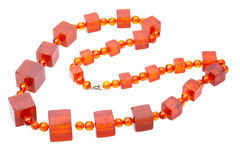 Baltic amber retro beads Stock Image