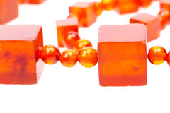 Baltic amber retro beads Royalty Free Stock Images