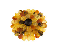 Baltic amber stone flower. Royalty Free Stock Photos