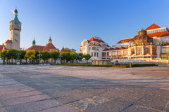 Baltic architecture of Sopot, Poland. Baltic architecture of Sopot with gardens, Poland royalty free stock photo