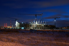 Baltic Arena Gdańsk. Stadium construction in Gdansk, Poland for the European Championship 2012 Royalty Free Stock Image
