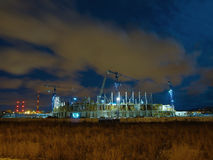 Baltic Arena Stadium. View of the stadium construction site for the European Championship 2012. Baltic Arena in Gdansk, Poland. Photo taken on: January 2, 2010 Royalty Free Stock Image
