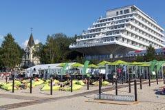 Baltic Beach Hotel ashore the Baltic sea Stock Photography