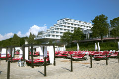 Baltic Beach Hotel ashore the Baltic sea Stock Photography