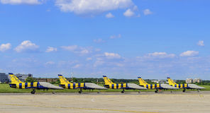 Baltic Bees aerobatic team parking Stock Photography