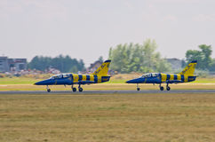 Baltic Bees formation on Radom Airshow, Poland Royalty Free Stock Photos