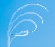 Baltic Bees Jetplanes Acrobatics Royalty Free Stock Images