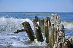 Baltic breakwaters Royalty Free Stock Photo