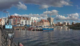 Baltic city Gdansk, Poland. Stock Image