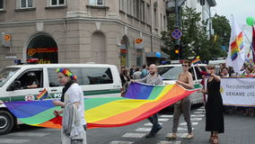 Baltic city parade gay Royalty Free Stock Photography