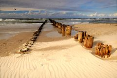 Baltic coast in summer sunny day, Poland, Dźwirzyno. stock photo