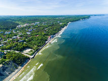 Baltic coast, view from above Stock Images