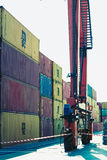 Baltic Container Terminal in Gdynia on 13 Juny 2015, Poland Stock Photos