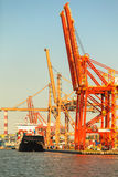 Baltic Container Terminal in Gdynia on 13 Juny 2015, Poland Royalty Free Stock Images