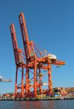 Baltic Container Terminal in Gdynia Stock Image