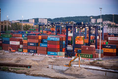 Baltic container terminal in Gdynia Royalty Free Stock Image