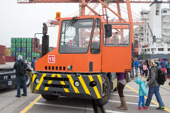 Baltic Container Terminal Open Day in Gdynia. Stock Photo