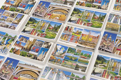 Baltic cruise ports of call picture postcards. Stacks of travel destination postcards pertinent to Baltic ports of call Royalty Free Stock Photography