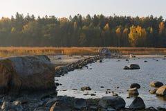 Baltic dam Royalty Free Stock Photo