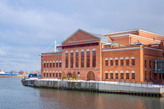 Baltic Philharmonic in Gdansk at Motlawa rivert Stock Photo