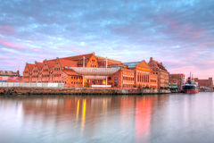 Baltic Philharmonic in Gdansk at sunset Stock Photography