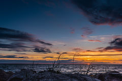 baltic piękny calmness morza zmierzch Obrazy Stock