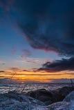 baltic piękny calmness morza zmierzch Obrazy Royalty Free