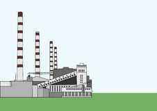 Baltic Power Plant. Vector illustration of Baltic power plant with copy space for your text Royalty Free Stock Photos