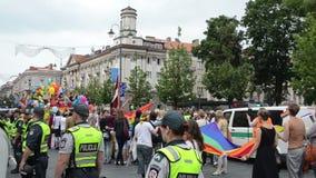 Baltic pride gay stock video