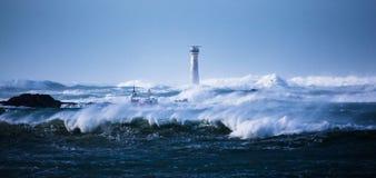 baltic quay Rosji zima zelenogradsk burzy Zdjęcie Royalty Free