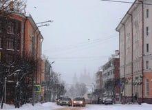 baltic quay Rosji zima zelenogradsk burzy Obrazy Royalty Free