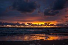 baltic słońca nad morza czarnego Obrazy Royalty Free