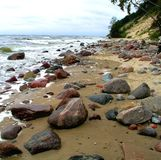 Baltic se shore with boulders Stock Photo