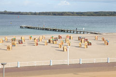 Baltic Sea. In the north of Germany. One is excluding the promenade at the beach Stock Photography