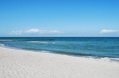 Baltic sea. Beach of the german baltic sea Stock Photography