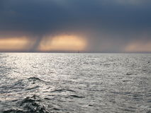 Baltic sea. Baltic, sea. ship and raining, sunny Royalty Free Stock Photo