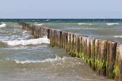 Baltic sea. With wave breakers Stock Photo